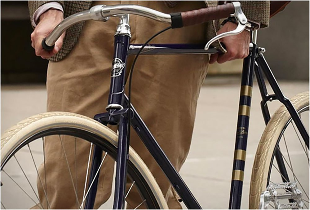 Vélo singlespeed de luxe Rugby Tweed Run signé Ralph Lauren