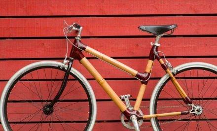 Bamboocyclette un fixie avec un cadre en bambou