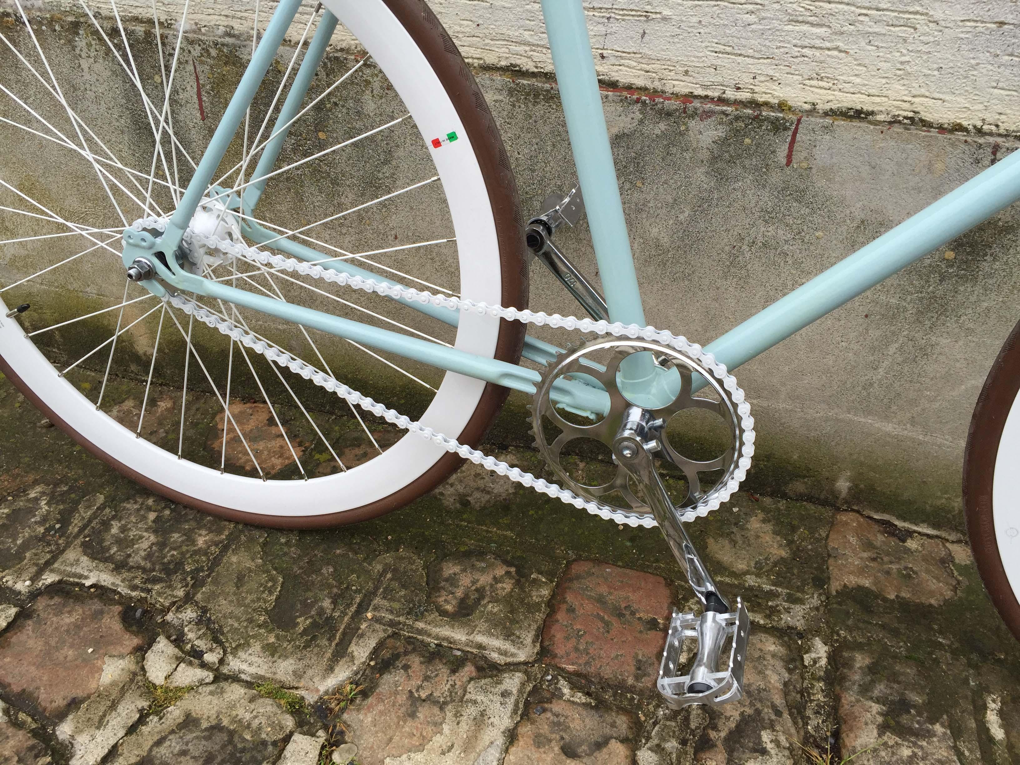 fixie pignon fixe singlespeed bleu marron 7