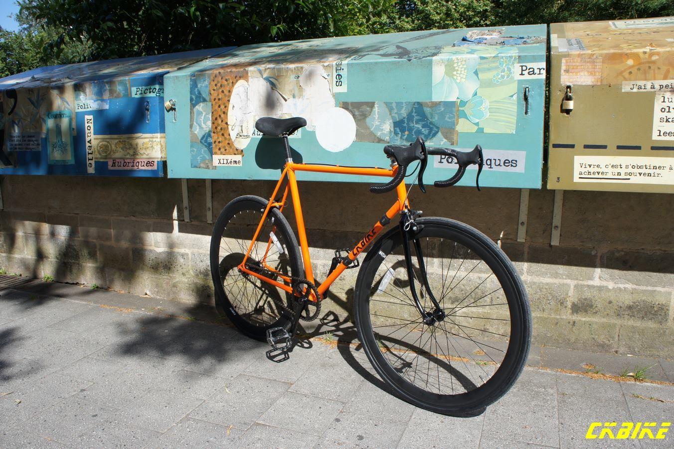 Vélo Raleigh Sirocco devenu singlespeed par notre internaute