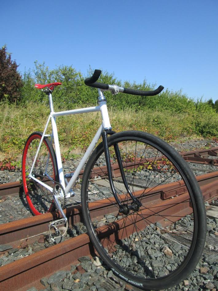 Vélo Gitane de chez Emmaüs devenu pignon fixe