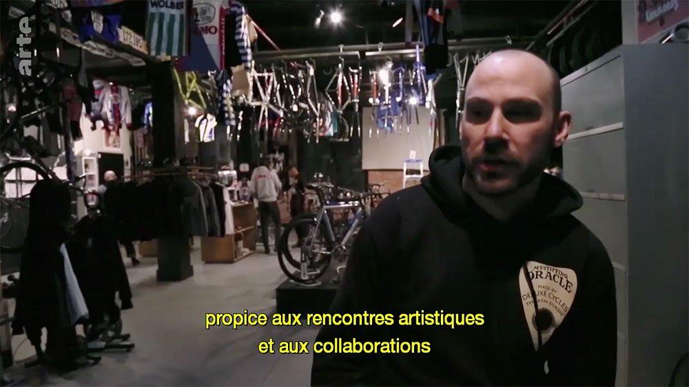 """Vidéo """"En selle"""" diffusée sur Arte, l'esprit pignon fixe."""