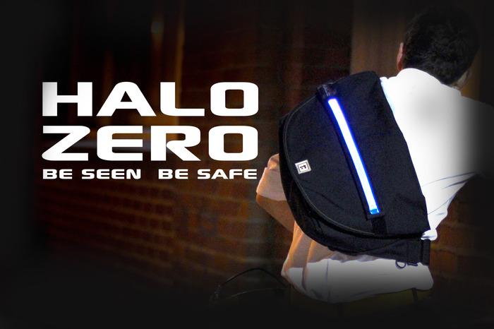 halo zero bag sac coursier lumineux 1