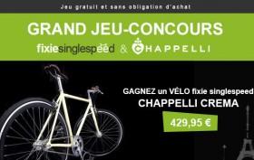 Grand jeu-concours, gagnez un vélo fixie singlespeed Chappelli Crema