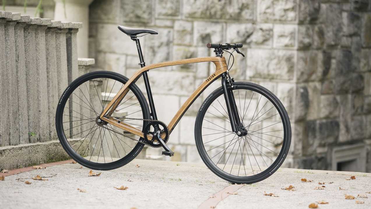 tratar bikes le singlespeed en bois au design l gant fixie singlespeed infos v lo fixie. Black Bedroom Furniture Sets. Home Design Ideas