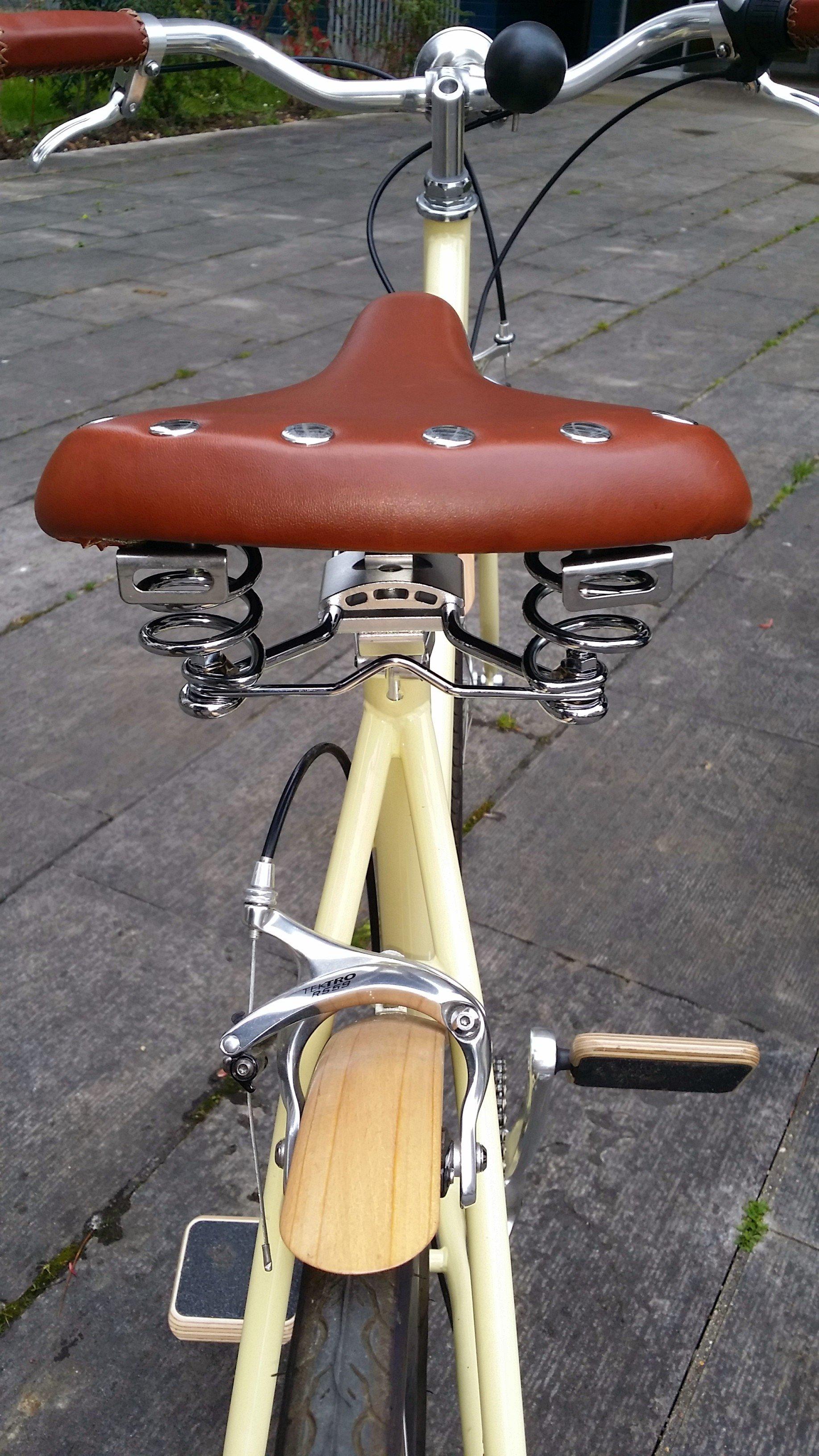 La selle de vélo vintage tout confort Endzone