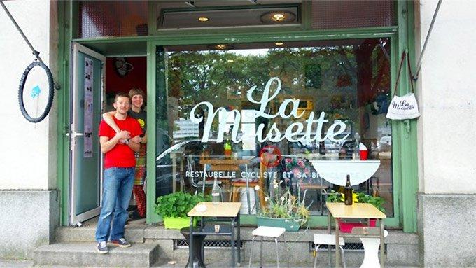 La Musette à Nantes, restaure le cycliste et sa bicyclette