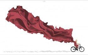 100copies aide le Népal avec Ride On, Népal