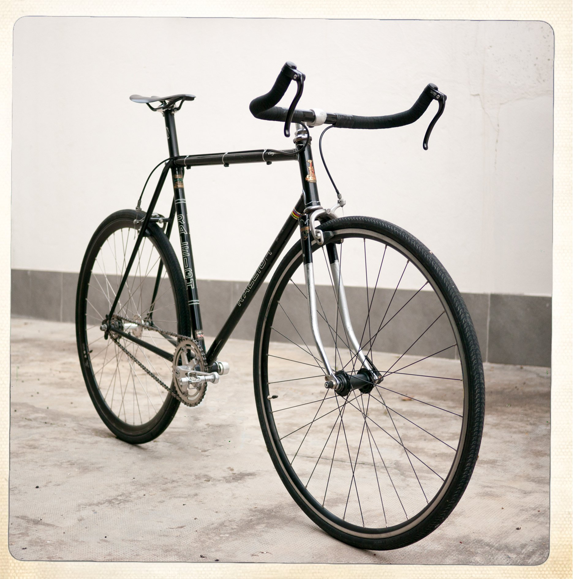 Raleigh Competition GS fixed gear conversion