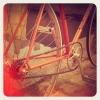 Vélo de course Gitane transformé en singlespeed pour mademoiselle !